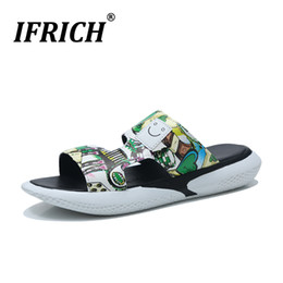 $enCountryForm.capitalKeyWord Australia - Ifrich Summer Soft Sole Slippers Men Discount Mens Flat Flip Flops Pu Leather Water Slippers Comfortable Men Slide Shoes