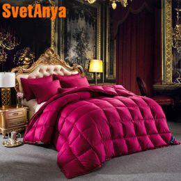 $enCountryForm.capitalKeyWord NZ - Svetanya Goose Down Duvet stiching Quilt thick Comforter 3d Bedding Filler White Gray Pink Yellow Coffee blue