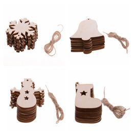 $enCountryForm.capitalKeyWord Australia - 1PCS Pack Wooden Pendants For DIY Handmade Christmas Ornaments Christmas Party Decorations Tree Ornaments 990300