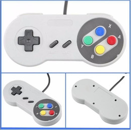 XboX classics online shopping - NEW Classic USB Controller PC Controllers Gamepad Joypad Joystick Replacement for Super Nintendo SF SNES NES Tablet PC LaWindows MAC