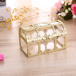 crystal treasures Australia - Plastic Transparent Pirate Treasure Box Crystal Gem candy Box Storage Organizer Chest Box Treasure for Jewelry Gem trinket
