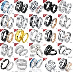 $enCountryForm.capitalKeyWord NZ - 10 pair lot Stainless Steel Couple Rings Fashion Titanium Steel Rings For Lover Gift Free Shipping Mixed Order