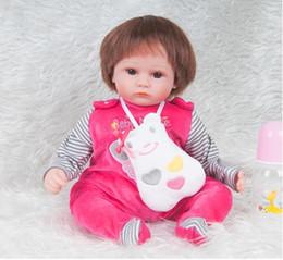 $enCountryForm.capitalKeyWord Australia - 18 inches Silicone Lifelike Reborn Baby Doll Realistic Newborn Babies with Clothes Kids Playmate Birthday Christmas Gift