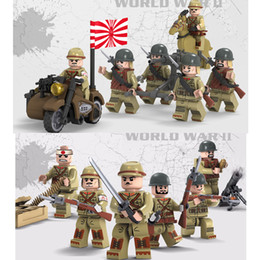 block figures Australia - WW2 The Sino-Japanese War Japanese Army Solider MIlitary Mini Toy Figure With Weapon Building Block Brick For Boy