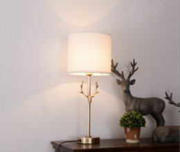 $enCountryForm.capitalKeyWord Australia - JESS antler Wall Sconce copper wall lamp fabric shade light living room restaurant cafe bedroom hotel hall deer horn light
