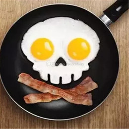 $enCountryForm.capitalKeyWord Australia - 100pcs lot Cooked Fried egg Skull owl shaper silicone moulds egg ring silicone mold cooking tools christmas supplies Fried Egg Mold Pancake