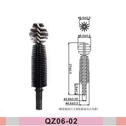 wholesale nylon fiber Australia - High Quality 3D Silicone Fiber Lashes Eyelash Eyebrow Eyeliner Mascara Brushes Silicone Plastic Nylon Eyelash Extensions in France QZ-06-02