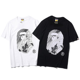 Großhandel 2019 neue design cartoon gedruckt baumwolle straße luxus casual tee hip hop t-shirt männer sommer kurzen ärmeln streetwear designer clothing