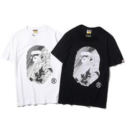 2019 Nuevo Diseño de Dibujos Animados Impreso Algodón Calle de Lujo Camiseta Casual Hip Hop T-shirt Hombres de Verano de Manga Corta Streetwear Diseñador de Ropa en venta