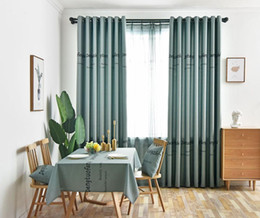 $enCountryForm.capitalKeyWord Australia - Curtains for Living Dining Room Bedroom Light blue Screens Printing American Villages Minimalist European Style Blackout Curtain