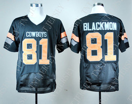 Youth Football Jersey Black NZ - custom Oklahoma State Justin Blackmon 81 College Football Jersey- Black Stitched Customize any number name MEN WOMEN YOUTH XS-5XL