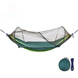 Summer outdoor hammock with mosquito nets mosquito-proof household dormitory hammock sheet double field shaker on Sale