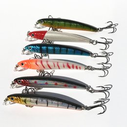 sink pieces NZ - Minnow Crank Small Fat Fishing Lure Slow Sinking 4.6g 7cm Artificial Lures Basss Mandarin Carp Lot 6 Pieces