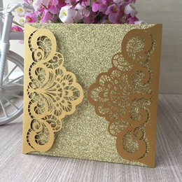 Wholesale 20PCS Hollow Laser Cut Wedding Invitation Card Apply To The Waves Theme Party Beach Engagement Invitations Marriage Ceremony Invitations