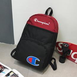 $enCountryForm.capitalKeyWord Australia - Brand Champions Letter Printed Backpack Kids Patchwork School Bag Teenager Outdoor Sports Travel Shoulder Bags Storage Rucksack C3276