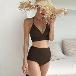 d058602df6 Swimsuit 2019 Summer Beachwear Bathing Suits For Women Women's Push-Up New  Korea Lovely Female Beach Solid Polyester Sierra