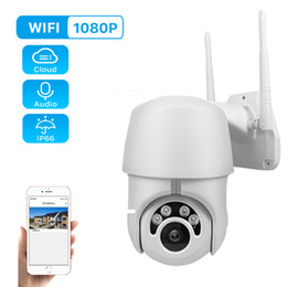 tilt network camera Canada - 1080P PTZ IP Camera Wifi Outdoor Speed Dome Wireless Wifi Security Camera Pan Tilt Dome P2P IR Network CCTV Surveillance 720P
