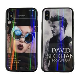 Sexy Girl Iphone Australia - Sexy Girl Man pattern Laser Painting Shockproof Tempered Glass Cell Phone Case Mirror Protective Covers For iPhone X 6 6S 7 8 PLUS