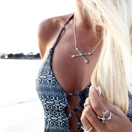 $enCountryForm.capitalKeyWord Australia - New Bohemia Multilayer Arrow Cross Chain Necklace For Women Party Trendy Pandent Link Necklaces Female