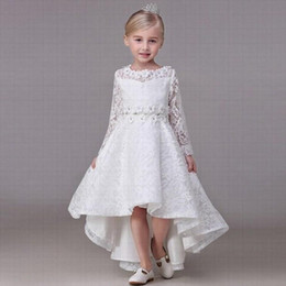 beautiful prom dress kids Australia - Beautiful Pincess Lace Flower Girl Dresses Kids Pageant Party Wedding Birthday Prom Children Dress GHST37