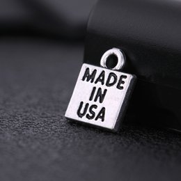 $enCountryForm.capitalKeyWord NZ - Fishhook 30pcs per Lot Cheap Zinc Alloy Tibet Silver Color Message Made In USA Charm Jewelry Making
