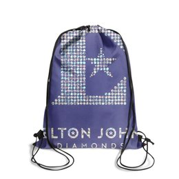 $enCountryForm.capitalKeyWord Australia - Drawstring Sports Backpack elton john diamonds album cover Classic adjustable sports Pull String Backpack