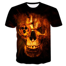 488f3c11d 2019 New Mens Summer Skull Printing Men Short Sleeve T-shirt 3d T Shirt  Casual T-shirt Plus-size T-shirt