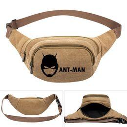 $enCountryForm.capitalKeyWord UK - Ant man waistpacks Super hero Paul Rudd waist bag Durable belt side packs Khaki canvas bum pocket Outdoor sport waistbag