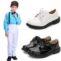$enCountryForm.capitalKeyWord Australia - Flower Children Boys Black Patent Leather Dance Formal Dress Shoes For School Teens Boys Stage Perform Party And Wedding Shoes 4