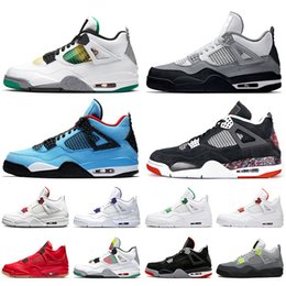 Wholesale shoes carnival for sale - Group buy 2020 New Rasta Travis Scotts s Neon Mens Womens Basketball Shoes Jumpman Black Cat Carnival Bred Mens Shoes Trainers Sneakers size