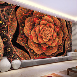 modern art simple home walls Australia - Custom 3D Wall Mural Wallpaper Simple Modern Flower Pattern Home Interior Decoration Art Mural Wallpaper Living Room Bedroom