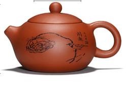 $enCountryForm.capitalKeyWord NZ - Chinese yixing zisha teapot handmade qingshui ni Purple sand Clay xi shi teapot 280cc