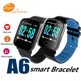 smart watch running Canada - New A6 Smart Watch Touch Screen Blood Oxygen Boold Pressure Heart Rate Monitor Outdoor Sport Running Calories Smart Watches