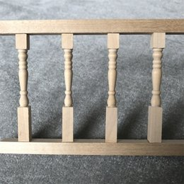 miniatures pvc toys UK - Miniature Fence Handrail 1:12 Mini Dollhouse Furniture Simulation Wooden House Mini Fence Doll House Accessories Kids Toy M850#