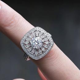 Zircon Rings Prices Australia - Simple korean Zircon ring flower shape crystal women wedding ring high quality factory wholesale best price women jewelry for women gift