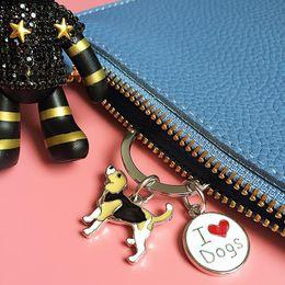 $enCountryForm.capitalKeyWord NZ - Mini Pet Dog Keychains Corgi Key Ring DIY Metal Woman Keychains Gift French Bulldog Dachshund Bag Charms Key Chains Key Rings