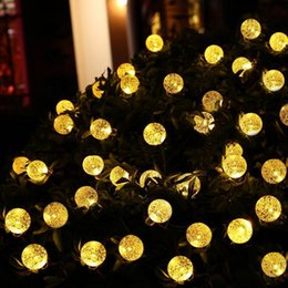 outdoor christmas ornament balls Australia - 4M 20Leds 3Colors Bubble Ball Fairy String Lights Solar Powered Bubble Ball Lights Outdoor Christmas Holiday Decor Lights String