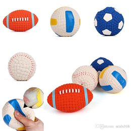 $enCountryForm.capitalKeyWord Australia - Dog Cat Playing Chew Toys Ball Latex Football Volleyball Tennis Ball Dog Squeaky Toy Pet Puppy Sound Squeaky Ball Supplies HH7-379