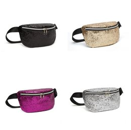 sequin sparkly UK - Fashion Sequin Glitter Waist Fanny Pack Waist Bag Sparkly Purse Pouch Pocket Clutch Cosmetic Makeup Bags for Travel