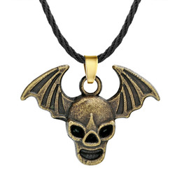 $enCountryForm.capitalKeyWord Australia - Huilin Jewelry Punk Gothic Skull Skeleton Necklace Vintage Demon Devil Wings Pendant Necklace for Women Men Jewelry Birthday Gift Charm