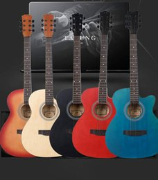 Wholesale inch folk acoustic guitar Basswood face single instrument beginner practicing piano