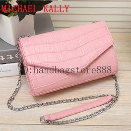 8b4613f66470 Fashion women hot famous brand luxury designer MICHAEL KALLY handbag PU  leather bags one shoulder messenger bag crossbody chain purse
