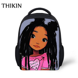 girls kindergarten bags NZ - THIKIN Cartoon Cute Afro Girl School Bag Children South Backpack Back To School Kids Kindergarten Backpack Baby Toddler Bag