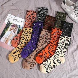 $enCountryForm.capitalKeyWord NZ - Winter Full length stockings leopard grain high tube stockings for women cotton leisure sport socks knee-socks 20color 30pair T1I1152