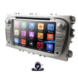 Ford Focus Player UK - HIZPO 7 inch Car DVD Player For Ford Focus 2 S-Max C-Max Mondeo 4 Galaxy Kuga 2008-2010 RDS DAB+ OBD2 Mirror link Free camera