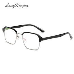 6328c453ec48 LongKeeper TR90 Woman Foldable Glasses Men Square Metal Half Frame Clear lens  Reading Glass Black Silver Gold Eyewear 1776