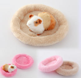 free beds NZ - Wholesales Free shipping 2020Hamster nest pad pet nest Arctic velvet warm cotton pad cushion Hamster Hedgehog Chinchilla rabbit pet bed