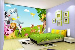 $enCountryForm.capitalKeyWord Australia - 3d wallpaper custom photo murals Background wall Blue sky, white clouds, cartoon animal, children's room home decor wall art pictures