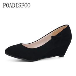 $enCountryForm.capitalKeyWord Australia - Designer Dress Shoes POADISFOO Spring, 2019 New Women's Classic Pumps for Woman Wedge sandals pumps for women OL sandals summer .LSS-907