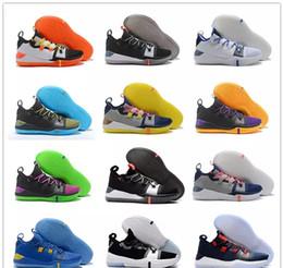 big sale 4926b 5dd77 2018 New Kobe AD React Exodus Derozan Black Silver Purple Pink Basketball  Shoes High quality KB Mens Trainers Sports Sneakers Size7-12